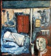 Noční cigareta, 2004, olej na plátně, 120 x 110 cm