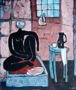 Snídaně, 2004, olej na plátně, 130 x 110 cm