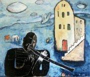 Stará píseň, 2004, olej na plátně, 120 x 140 cm