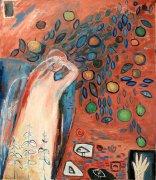 Nějaký anděl v mé zahradě, 2010, olej na plátně, 150x 130 cm
