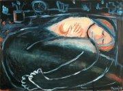 (English) Schoulená, 2010, olej na plátně, 60 x 80 cmHuddled, 2010, oil on canvas, 60 x 80 cm