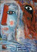 Žena v zahradě II, 2011, olej na kartonu, 70 x 50 cm