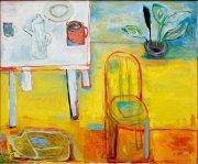 Židle, 2011,olej na plátně, 100 x 120 cm