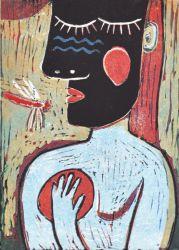 Vážka, 2012, linoryt, 24 x17 cm, 12 tisků