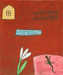 Easter2015, linocut, 40 x 34 cm