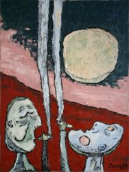 Full Moon, 1999, silicone on canvas, 120 x 90 cm