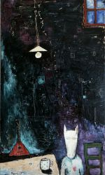 Saint Petersburg blues, 2007, oil on canvas, 150 x 90 cm