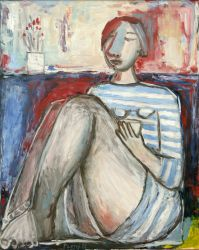The Striped T-shirt, 2011, oil on canvas, 100 x 80 cm