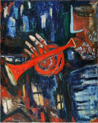 Red trumpet, 2012, oil on canvas, 100 x 80 cm