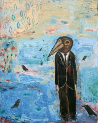 I'm a strange bird, 2013, oil on canvas, 100 x 80 cm