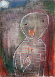 Jsem podivný pták 4, 2013, olejový pastel, 50 x 35 cm
